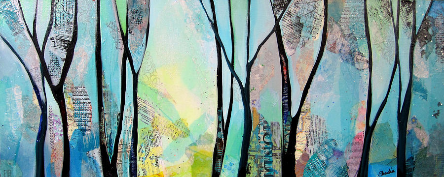 Winter Painting - Winter Wanderings I by Shadia Derbyshire