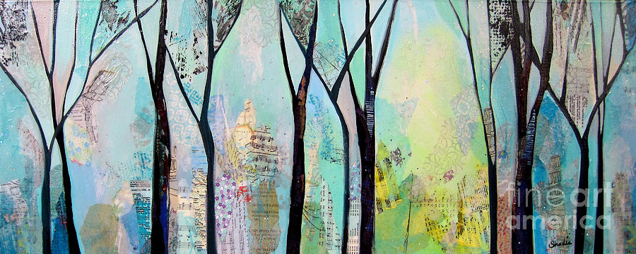 Winter Painting - Winter Wanderings II by Shadia Derbyshire