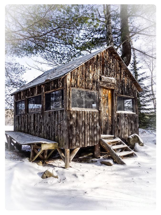 Winter Photograph - Winter Warming Hut by Edward Fielding
