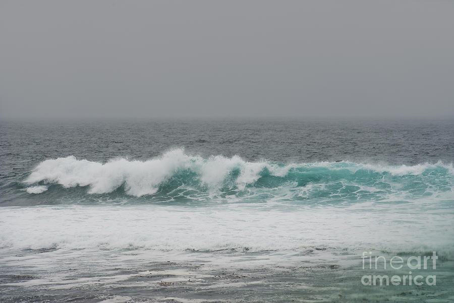 Waves Photograph - Winter Waves by Artist and Photographer Laura Wrede