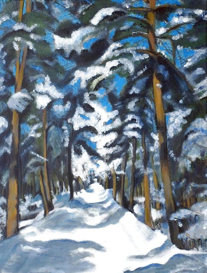 Winter Painting - Winter Way by Vera Lysenko