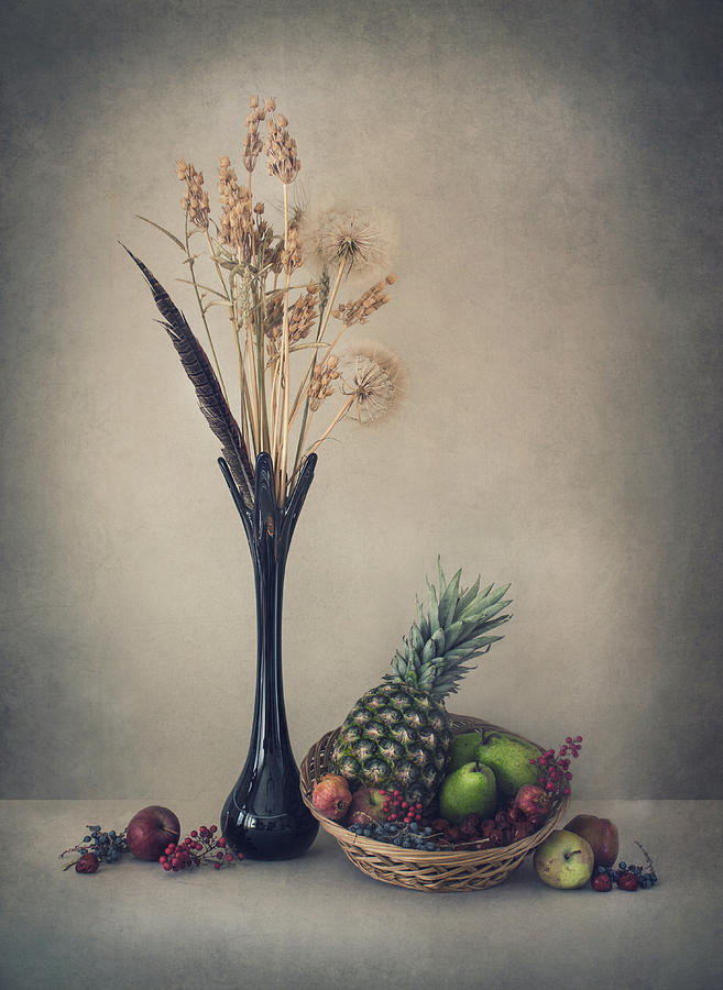 Still Life Photograph - Winter With Fruits by Dimitar Lazarov -