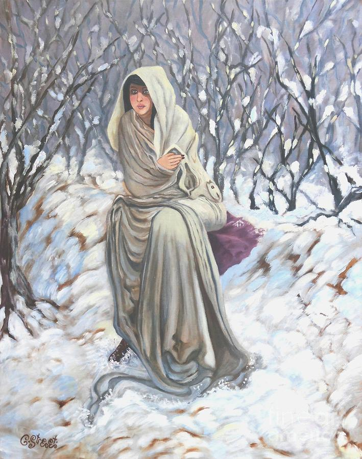 Winter Painting - Winter Wonderland by Caroline Street