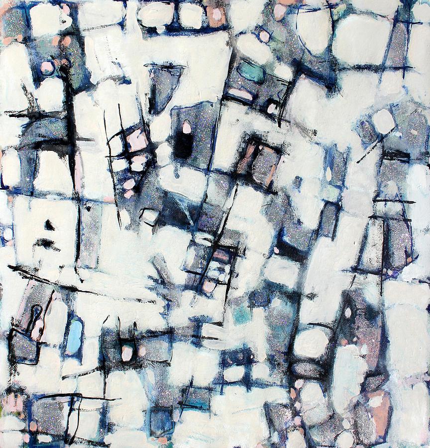 Abstract Painting Painting - Winter Wonderland by Hari Thomas