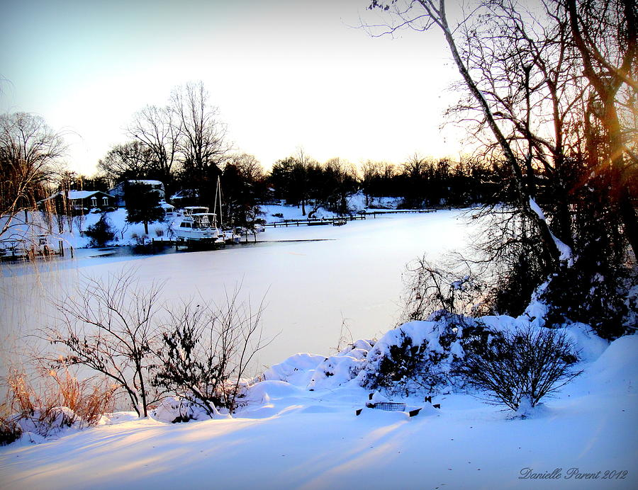 Winter Landscape Photograph - Winter Wonderland  In Maryland Usa by Danielle  Parent