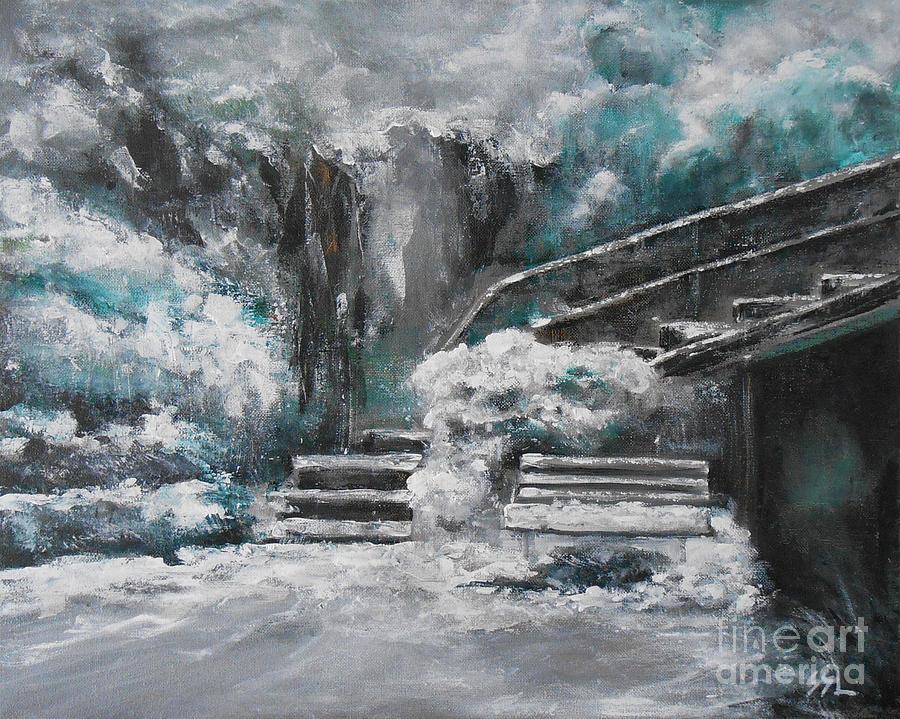 Landscape Painting - Winter Wonderland by Jane  See
