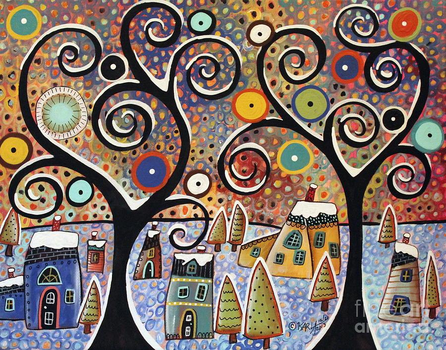 Landscape Painting - Winter Wonderland by Karla Gerard