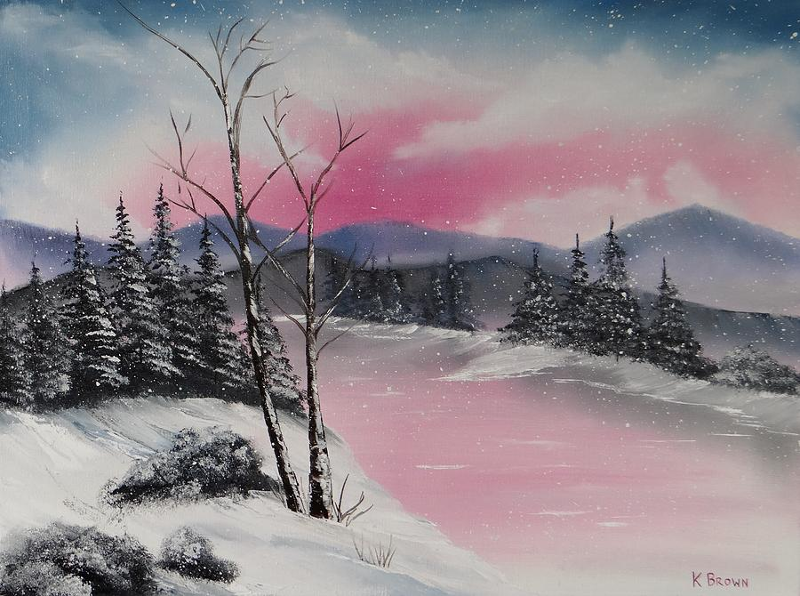 Landscape Paintings Painting - Winter Wonderland by Kevin  Brown