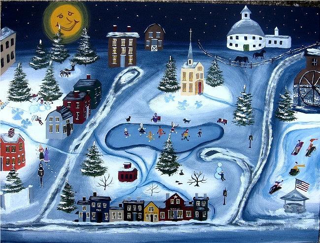 Snow Painting - Winter Wonderland by Kori Vincent