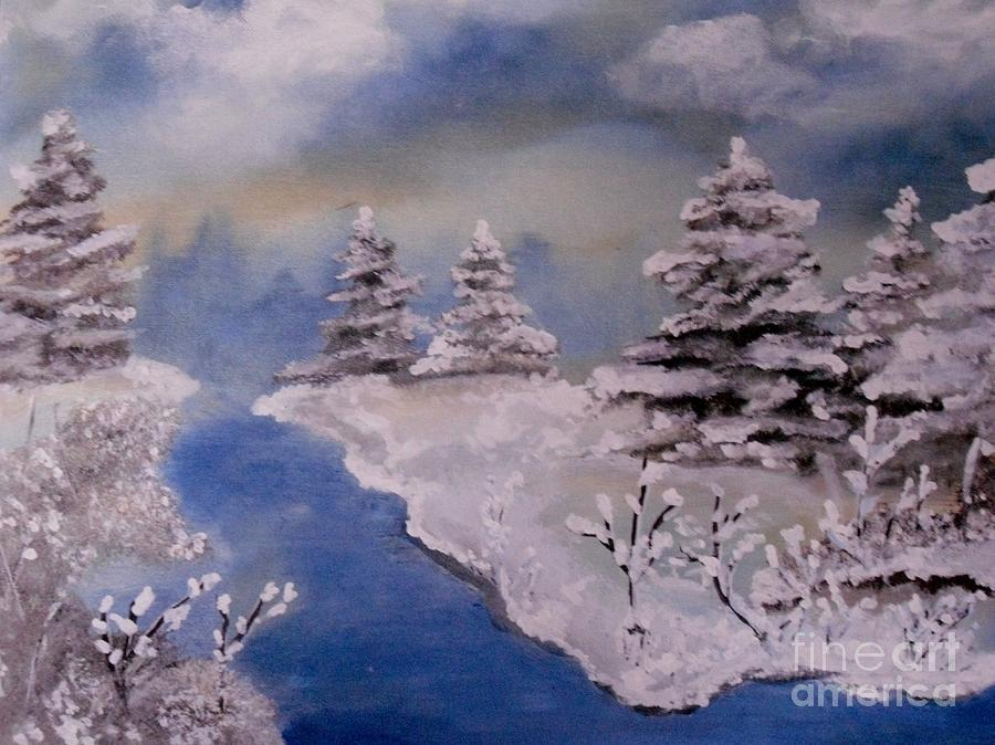Winter Painting - Winter Wonderland by LCS Art