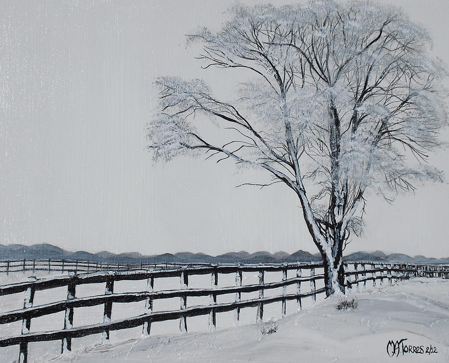 Landscape Painting - Winter Wonderland by Melissa Torres