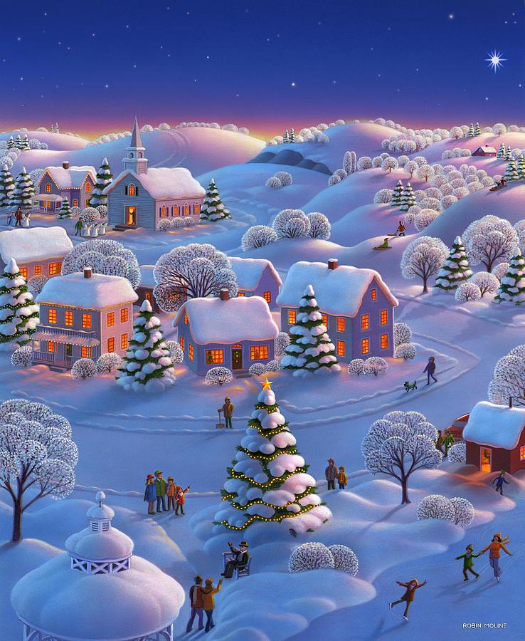 Winter Wonderland Painting - Winter Wonderland  by Robin Moline