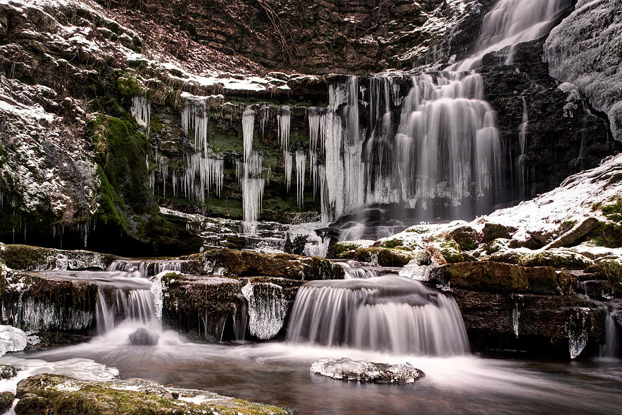 Settle Photograph - Winter Wonders At Scaleber Force by Chris Frost
