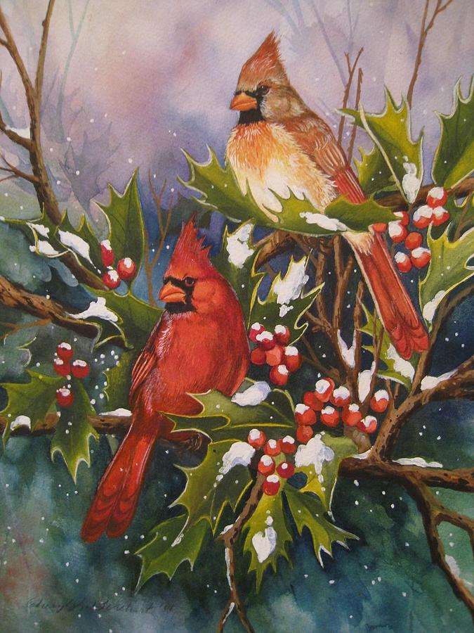 Winter Painting - Winter Wonders by Cheryl Borchert