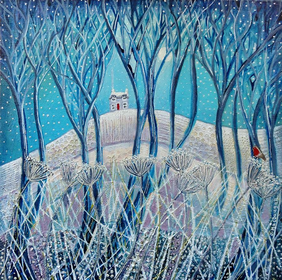 Image result for winter cabin paintings