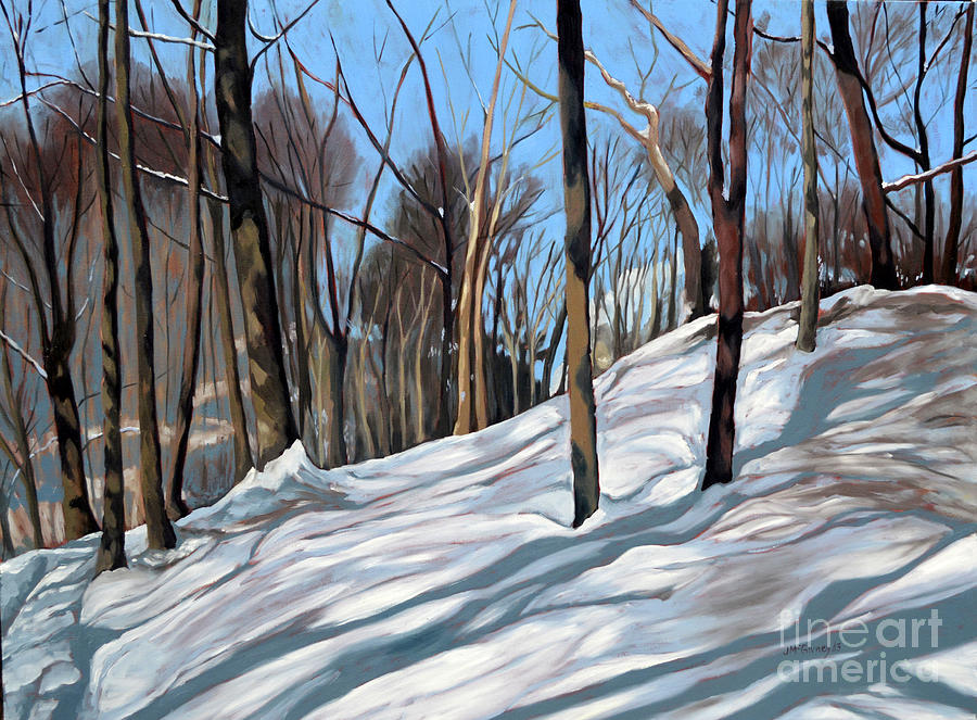 Winter Landscapes Painting - Winter Woods by Joan McGivney