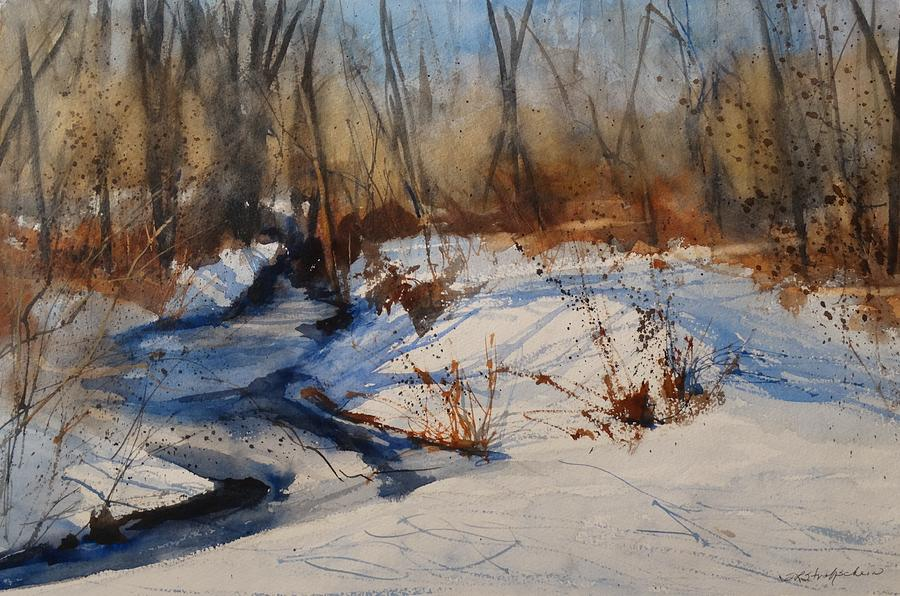 Winter Woods Painting By Sandra Strohschein