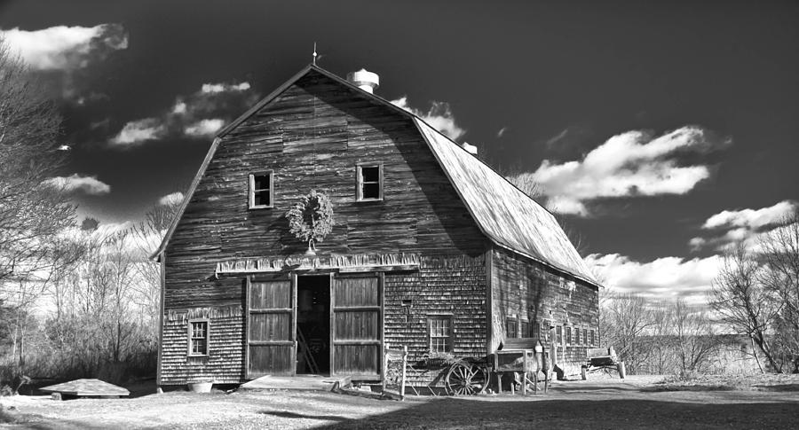 Barn Photograph - Winterberry Farm by Guy Whiteley