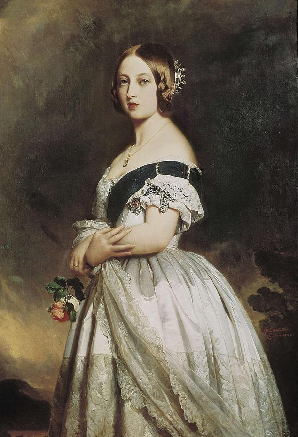 Woman Photograph - Winterhalter, Franz Xavier 1805-1873 by Everett