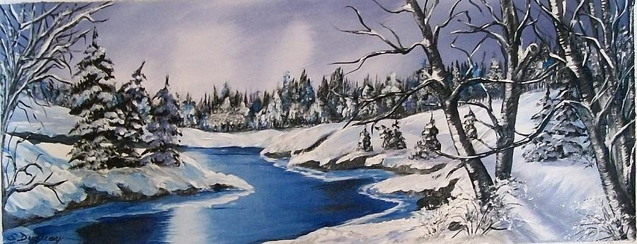 Snow Painting - Winters Blanket by Sharon Duguay