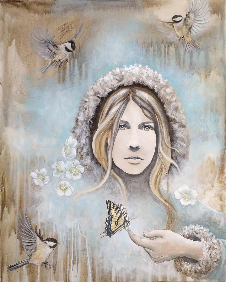 Acrylic Paintings Painting - Winters Dream by Sheri Howe