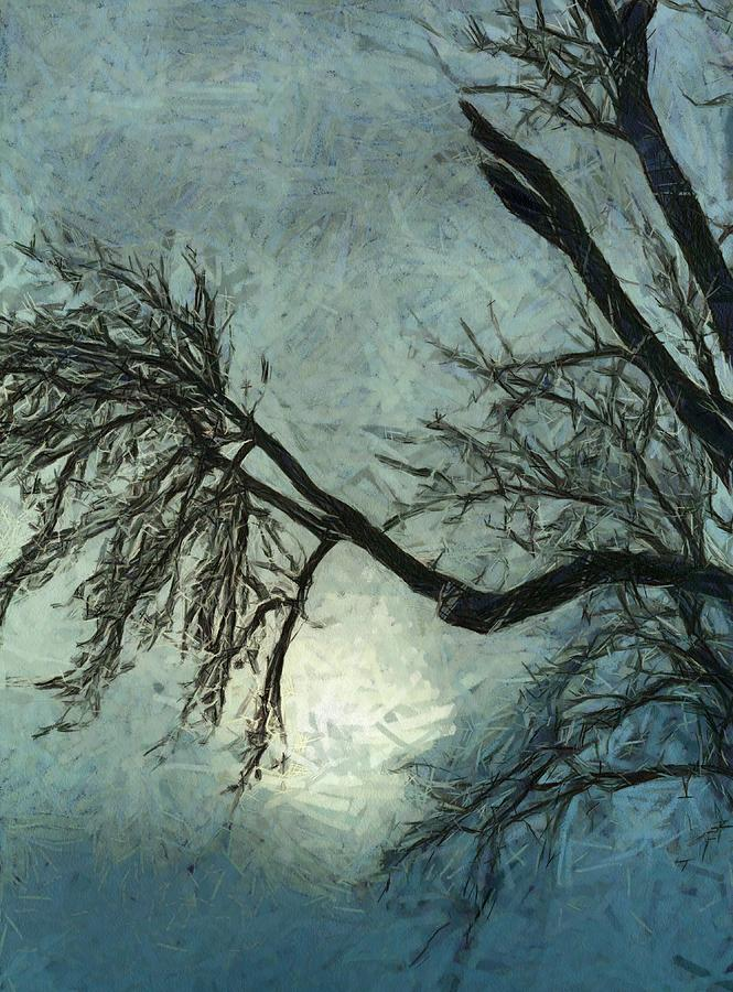 Winter Painting - Winters Embrace by Dan Sproul