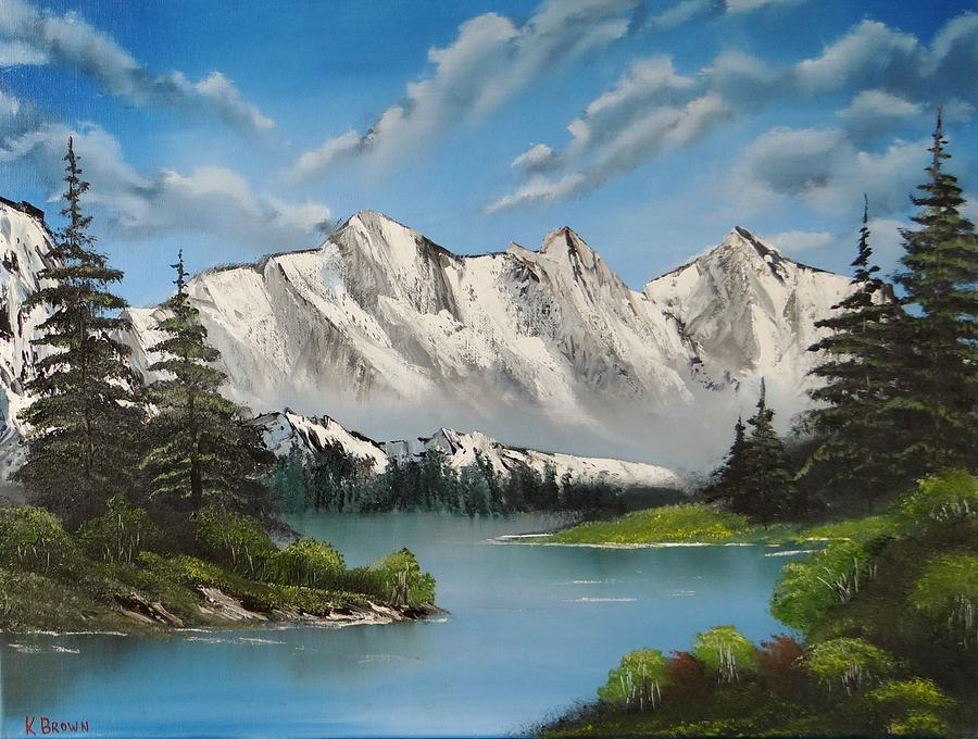 Landscape Paintings Painting - Winters End by Kevin  Brown