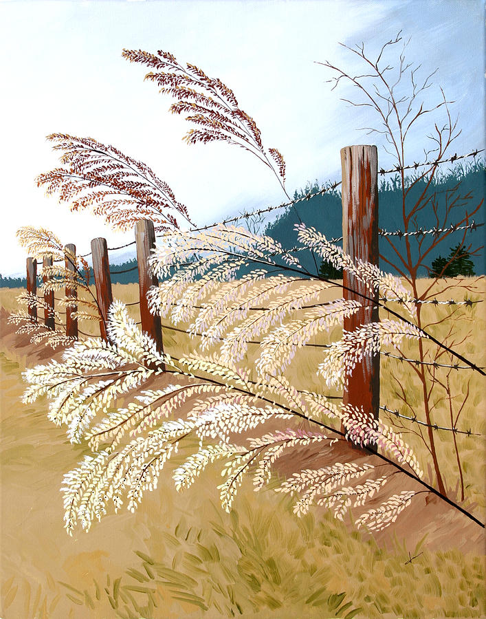 Nature Painting - Winters Flowers by Jennifer  Donald