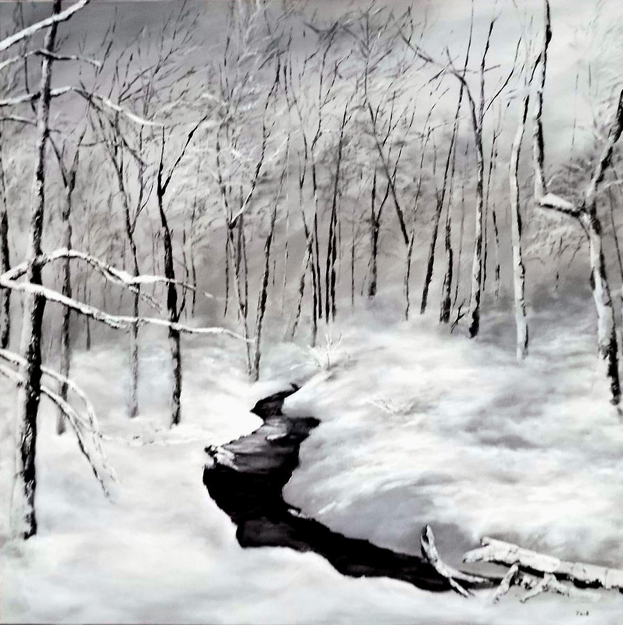 Winter Painting - Winters Glory by Jennifer  Blenkinsopp