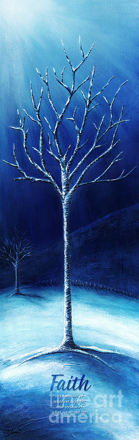 Winter Painting - Winters Hope by Shevon Johnson