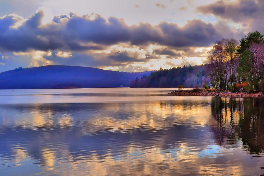 Water Photograph - Winters Lake by Dave Woodbridge