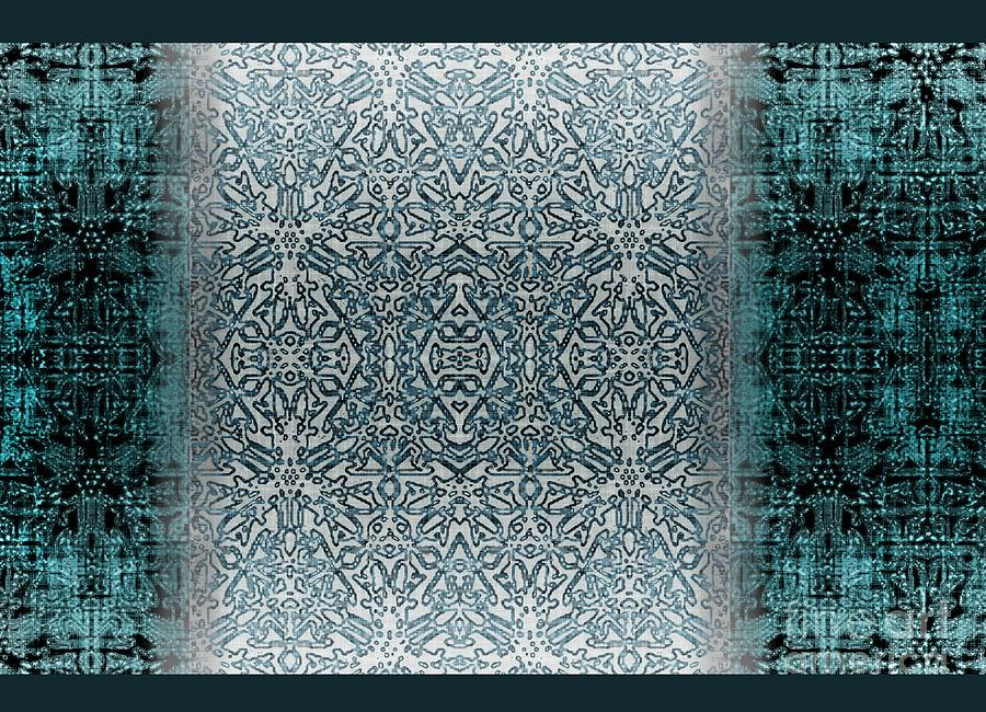 Teal Tapestry - Textile - Winters Past And Present by CR Leyland