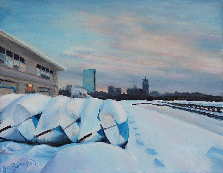 Boston Painting - Winters Rest  by Sue Birkenshaw