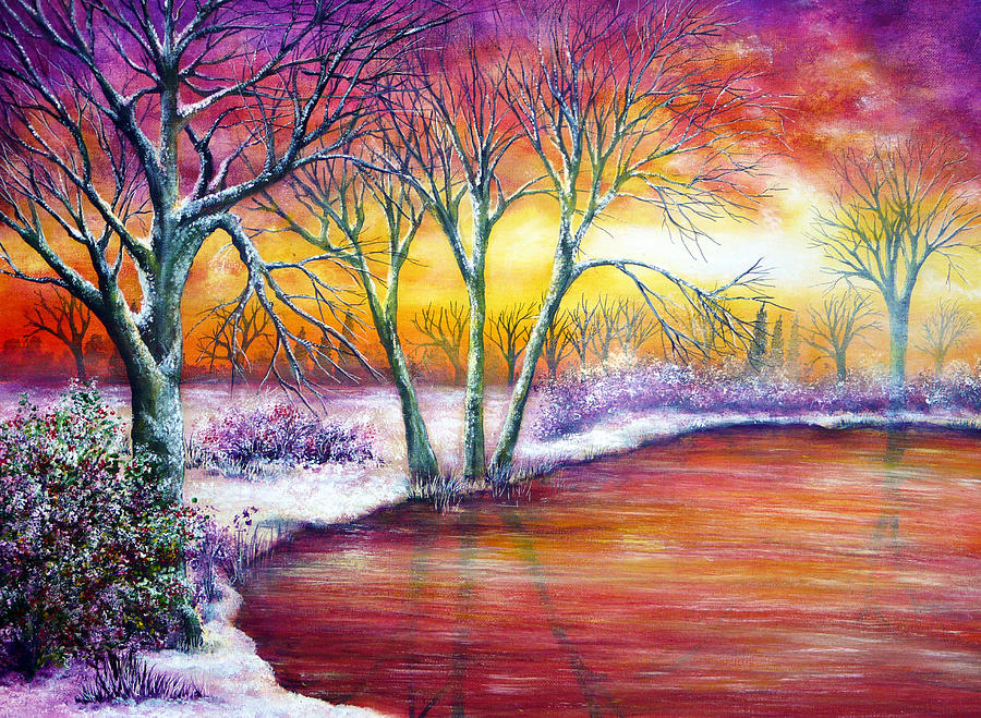 Holiday Painting - Winters Song by Ann Marie Bone