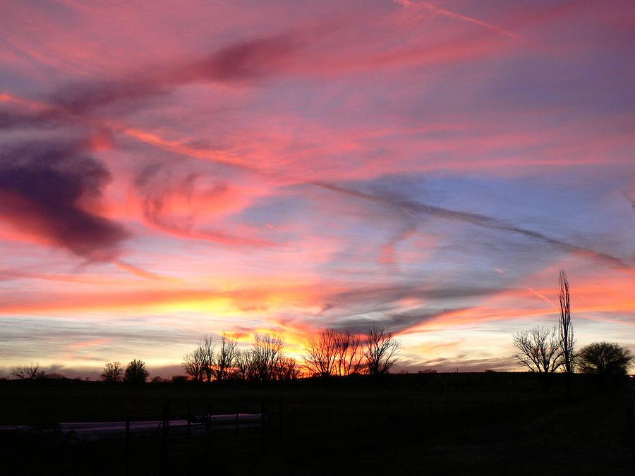 Texas Photograph - Winters Sunset Rainbow by Cheryl Damschen