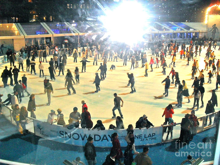Ice Skating Photograph - Wintertime In Bryant Park by Beth Saffer