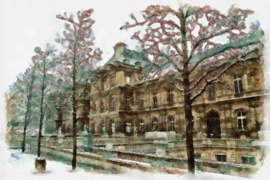 Mansion Painting - Wintertime Sadness by Ayse and Deniz