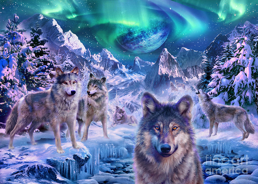 winterwolf digital art by mgl meiklejohn graphics licensing. Black Bedroom Furniture Sets. Home Design Ideas