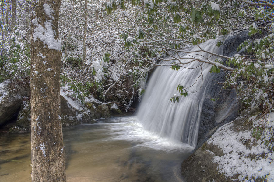 Appalachia Photograph - Wintery Frolictown Falls by Stephen Gray