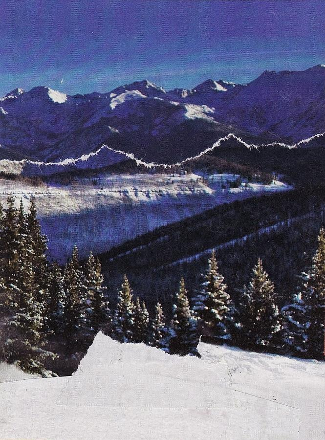 Christmas Mixed Media - Wintry Landscape by Matthew Hoffman