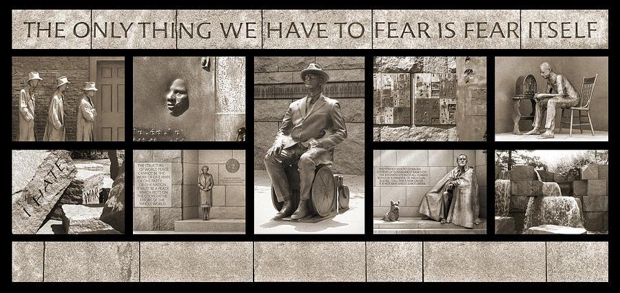 Landmarks Photograph - Wip - Fdr Memorial - Washington Dc by Mike McGlothlen