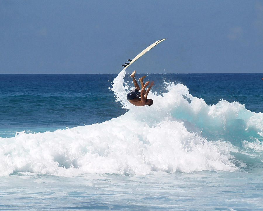 Surfing Photograph - Wipe Out by Athala Carole Bruckner