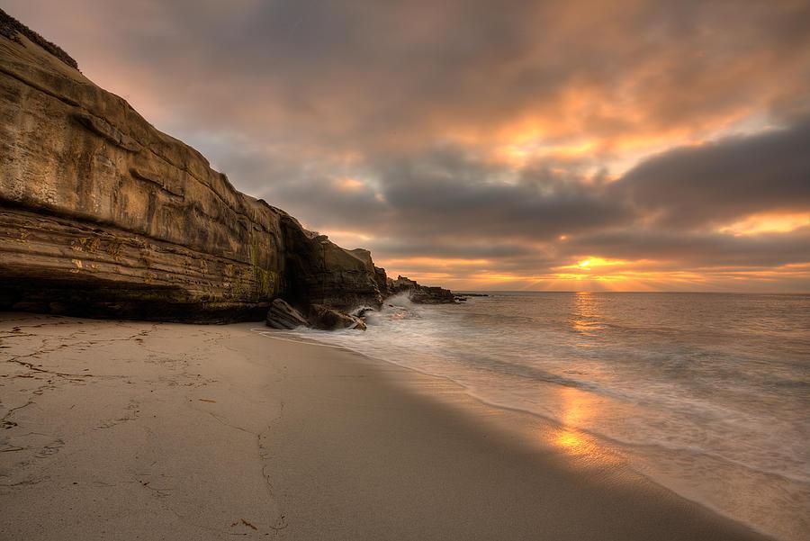 Beach Photograph - Wipeout Beach Sunset by Peter Tellone