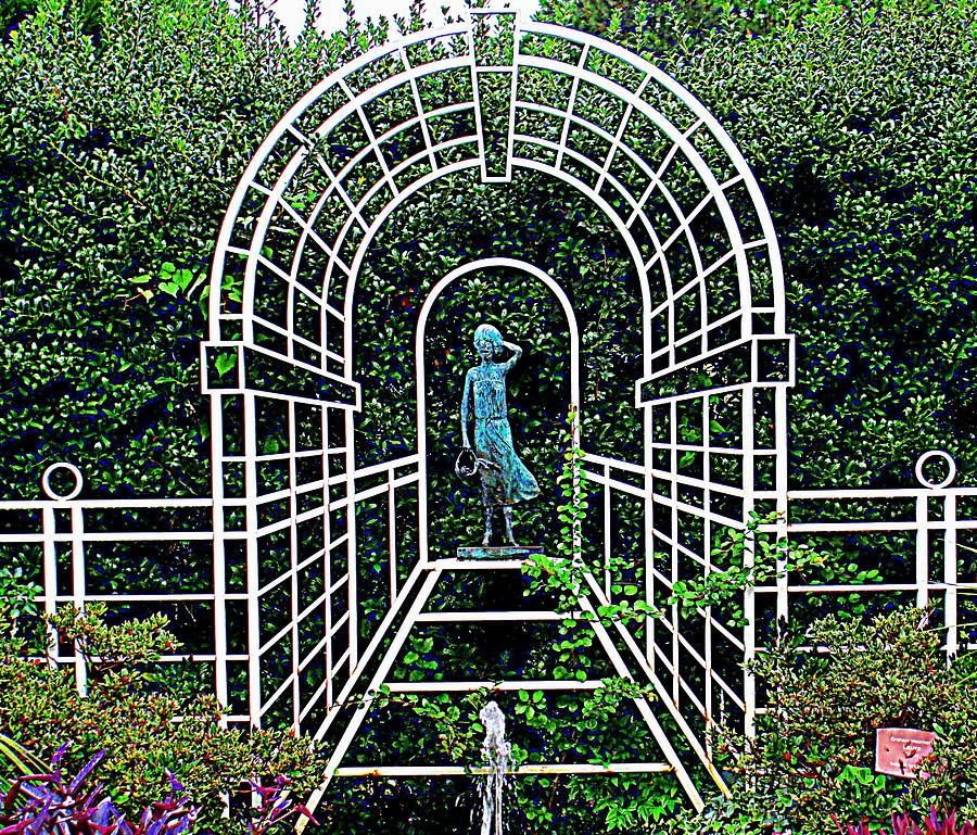 Wire Photograph - Wire Garden Arch by Randall Weidner