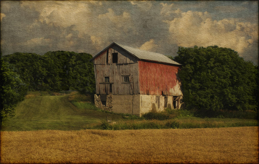 Landscape Painting - Wisconsin Barn by Jack Zulli
