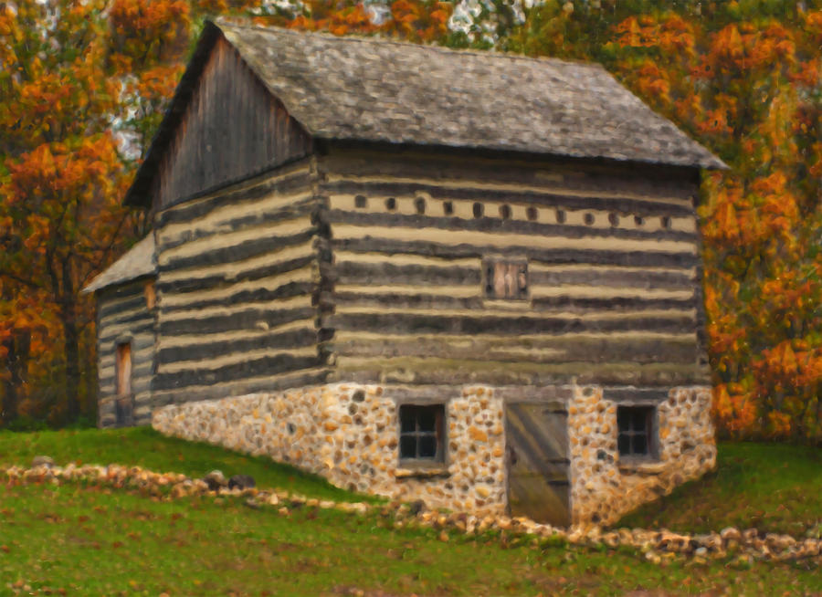 Landscape Painting - Wisconsin Homestead by Jack Zulli