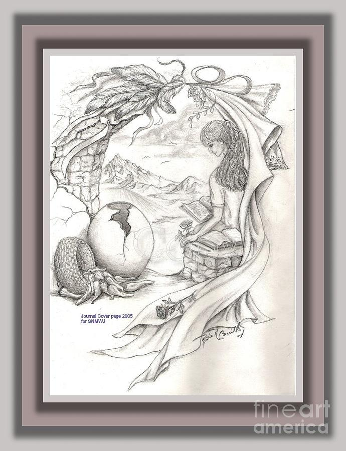 Sketch Drawing - Wisdom In The Valley by Rosie R Carrillo