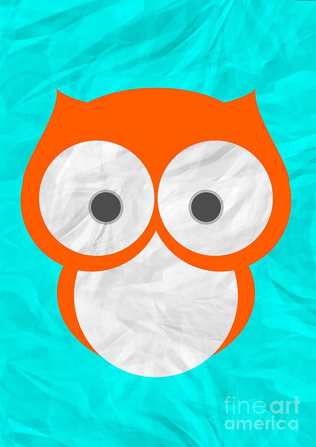 Owl Digital Art - Wise Owl by Henrietta Buwalda