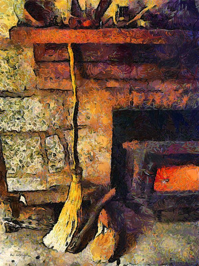 Connecticut Painting - Wisewomans Hearth by RC DeWinter