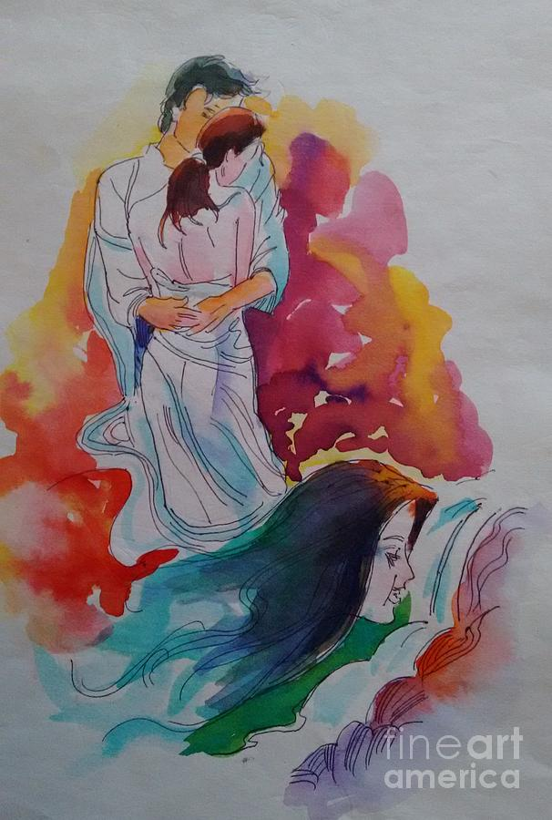 Romance Painting - Wish I Could by Chintaman Rudra